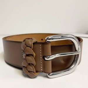 Ann Taylor Loft brown leather belt sz Small
